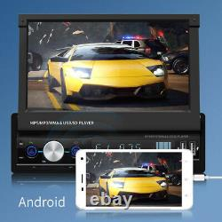 1 Din 7 Car Stereo Radio MP5 Player Touch Screen Android Bluetooth USB GPS Flip