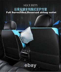 1 Set Deluxe Edition PU Leather Seat Covers Universal For Car Front + Rear Seat