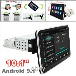 10.1 360° Screen 1DIN Android9.1 Quad Core Car Radio MP5 Player GPS WIFI 1G+16G