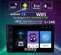 10.1 Android 7.1 Bluetooth 2DIN Car Stereo Radio MP5 Player WiFi GPS Navigation