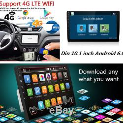 10.1Android 6.0 Double 2 Din Car Radio Quad Core GPS 1080P 4G RDS MP3 Player