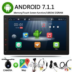 10.1Android 7 Car Stereo Radio GPS NAVI Double 2Din Wifi BT Mirror Link FM DAB+