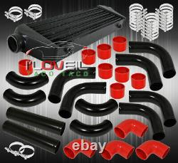 12 Piece Piping Kit + Turbo Fmic Front Mount Intercooler + Silicone Couplers Kit
