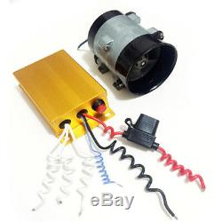 12V 16.5A Auto Car Power Turbine Booster Turbo Charger Fuel Saver with Controller