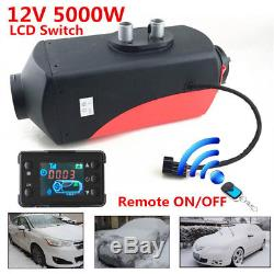 12V 5000W LCD Monitor Air diesel Fuel Heater with Remote Kit for Car Truck Heating
