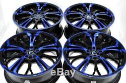 17 blue Rims Wheels Prius Civic Corolla Galant Eclipse Camry ES330 5x100 5x114.3