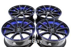 18 Drift blue rims wheels IS250 Accord Eclipse Sonata Fusion Civic 5x100 5x114.3