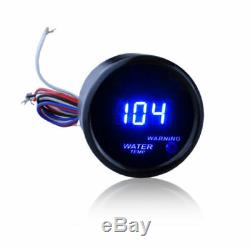 2 LED Auto Car Water Temp Gauge Temperature Meter With Sensor Blue LCD Display