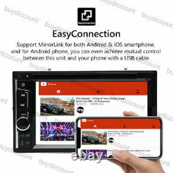 2DIN 6.2 Inch In dash Car Stereo Radio CD DVD Player MirrorLink For GPS HD Touch