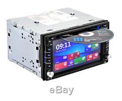 2Din 6.2 HD Car Stereo Radio DVD CD Player FM Bluetooth GPS Navigation with Map