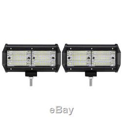 2x 7 648W TRI ROW CREE LED Work Light Bar Flood Offroad UTE Lamp Tractor Boat 6