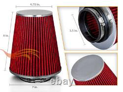 3.5 Inches 89 mm Cold Air Intake Cone Truck Filter 3.5 New RED Dodge