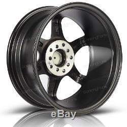 (4) 16X7 Inch 40mm Offset 5x100 Rims 5x114.3 Matte Black Wheels For Acura ILX