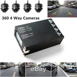 4 Camera Car Parking Kit Full View Front/Left/Right/ Rear Cam System Multiplexer
