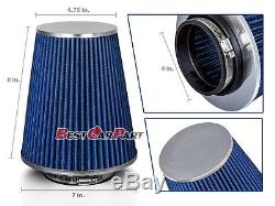 4 Inches 102 mm Cold Air Intake Cone Truck Long Filter 4 NEW BLUE Dodge