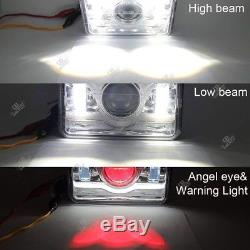 4X6 45W CREE LED Headlight Hi/Lo DRL Clear Sealed Beam Projector HID for H4651