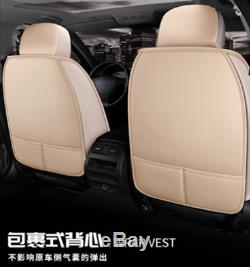 5-Seats Front+Rear PU Leather Seat Covers Cushion For Car Interior Accessories