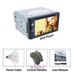 6.2 Double 2Din In-Dash Car Stereo Radio MP5 DVD Player FM AUX USB TF Bluetooth
