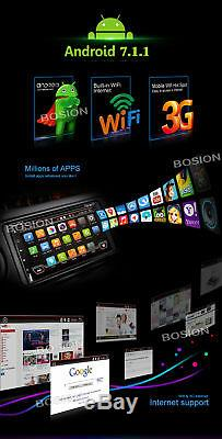 7 Android Autoradio Double Din DVD WiFi Car Stereo Touch Screen Receiver DVD/CD