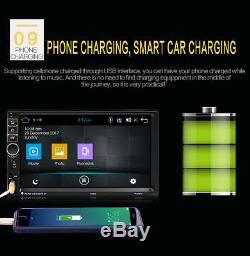 7 HD 1080P Touch Screen 2-Din Car Bluetooth Quad Core GPS Navigator Android 7.1