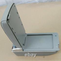 7 USB Rechargeable Style SUV Car Central Container Armrest Storage with Light Gray
