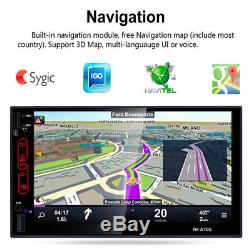 72DIN Quad Core Android 6.0 MP5 Player WIFI Bluetooth Car Stereo GPS Nav+Camera