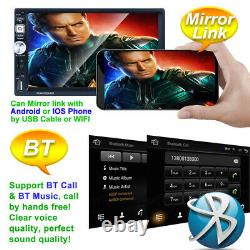7Android 8.1 4-Core GPS Car FM Radio withCamera MP5 Player Bluetooth Touch Screen