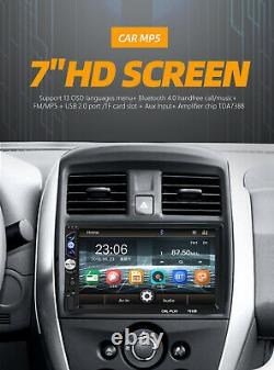 7in 2Din Car Stereo Radio FM Audio Multimedia MP5 Player With Rear View Camera