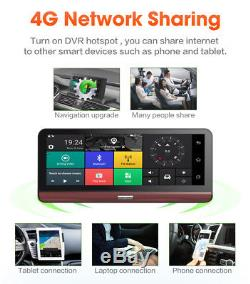 8'' 4G Wifi HD 1080P Android Car DVR Camera Rear View Video Recorder +GPS US Map