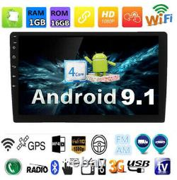 9 Android 9.1 2Din Car Radio GPS Wifi FM Mirror Link Touch Screen Head Unit