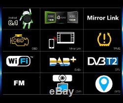 9 Android8.1 1Din Adjustable 1+16GB Car Stereo Radio GPS Wifi 3G 4G Mirror Link