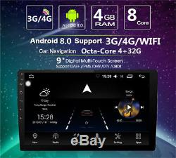 9 Car GPS 2 DIN 4GB +32G Android 8.0 Stereo Radio MP5 Player Octa-Core DAB SWC