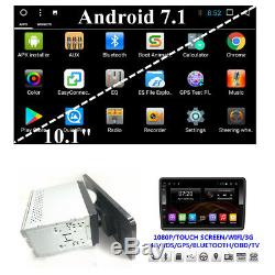Android 7.1 Double 2 Din 10.1 Car Stereo Radio GPS DVD Player Mirror Link SWC