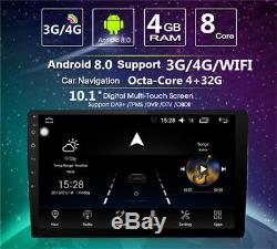 Android 8.0 2Din 10.1 Car Stereo GPS Nav BT Wifi DAB OBD SWC Mirror Link