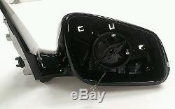 BMW E84 X1 Sport Drivers Right Door Wing Mirror Shadow Black Base