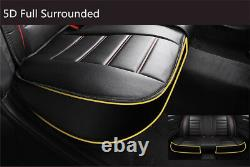 Breathable Surround 5D 5 Seat Luxury Car Seat Cover Protector Leather with Pillows