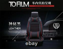 Deluxe Edition Leather Car Seat Cover Cushion Full Set Car Interior Accessories