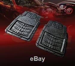 Dickies All Weather Water Proof 2pcs Front Floor Mats Black For Dodge