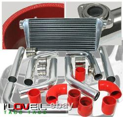 Diy Turbo Fmic 2.5 Intercooler Polish Piping Kit With BOV Flange For Eclipse 4G63