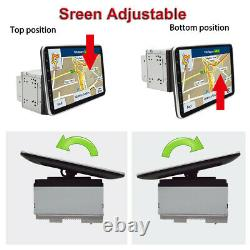 Double 2DIN 10.1 Car Stereo Radio GPS Touch Screen&Camera Mirror Link Player
