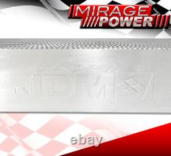 For 30X11X3 JDM Custom Twin Core Dual Outlet Front Mount Aluminum Intercooler