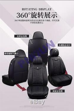 Full Set Car Pu Leather Seat Cover Protector Pad All season Fitment With Pillows