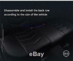 Full Surrounded Seat Cover Protect Mat Microfiber Leather Universal Car Truck