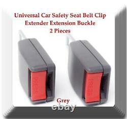 Grey 2 Pieces Universal Car Safety Seat Belt Clip Extender Extension Buckle
