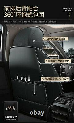 Luxury PU Leather Car Seat Cover Front&Rear Full Set for 5-Seats Car Accessories
