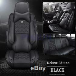 Luxury PU Leather Seat Cover Cushion Pad Surround Breathable With Headrest