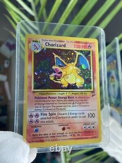PROXY Charizard 2nd Edition Shadow Base Set 4/130 Card Holo MINT In Hand