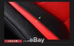 PU Leather 3D Wings Car Seat Covers withPillows Armrest Pad Head Cap for 5sits Car