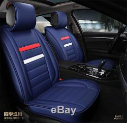 PU Leather Deluxe Edition Car Seat Cover Cushion 5-Seats Front + Rear with Pillows