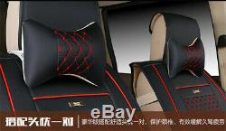 PU Leather Seat Cover For 7-Seat SUV Three Rows Cushion Protect Pillow USA Ship